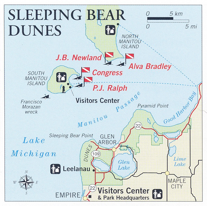 Sleeping_Bear_Dunes-Dive Site Map